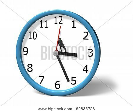 Stopping Clock Hand