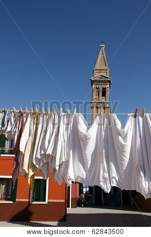 Wash In Burano Island, Venice