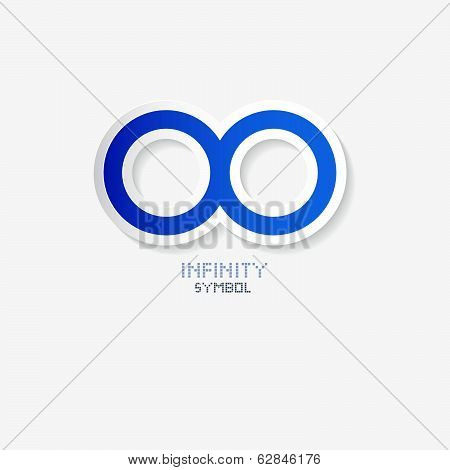 Blue Paper Vector Infinity Symbol