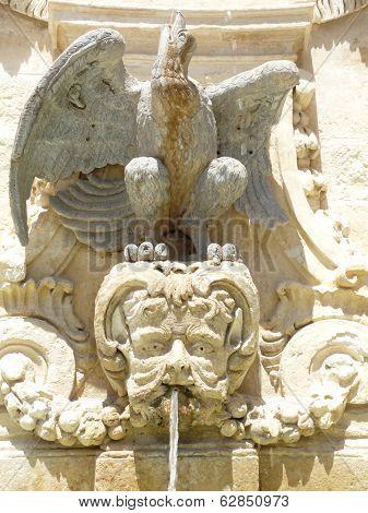 Classical fountain in Malta
