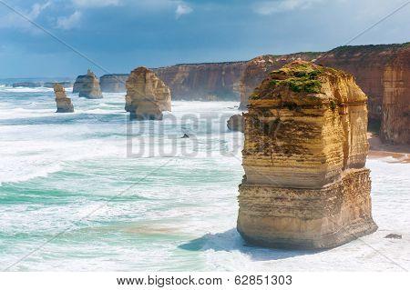 Twelve Apostles, natural landmark near the Great Ocean Road. Victoria, Australia
