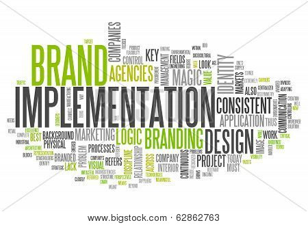 """Word Cloud """"brand Implementation"""""""