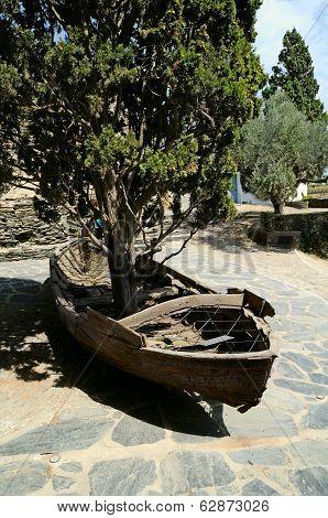 boat at the home of Salvador Dali