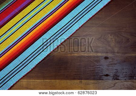 Happy Cinco De Mayo, 5Th May, Party Table Background With Red, Yellow And Blue Colors Against Dark W