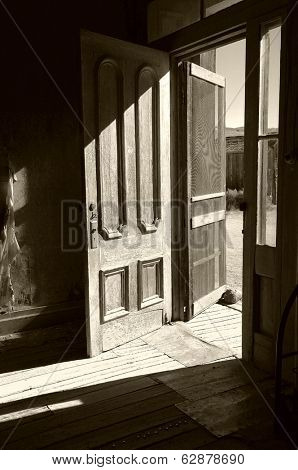 Ghost town hotel in Bodie, california