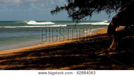 Beautiful Image of a beach On Kauai at Napali coast