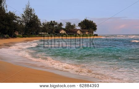 Nice image of the Kauai Coastline with Houses