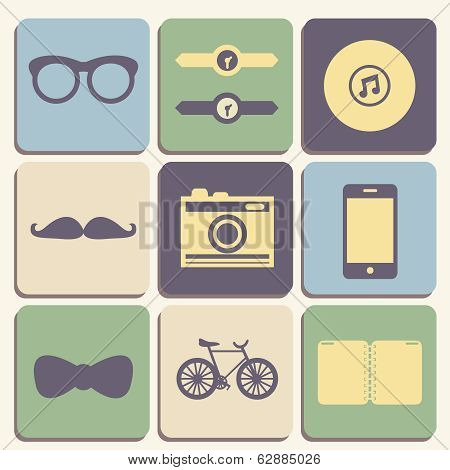 Hipster iconset
