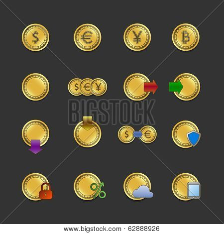 Iconset for electronic payments and transactions