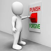 Punish Forgive Switch Showing Punishment or Forgiveness poster