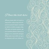 Vector Abstract Blue Sea Wave background with copyspace poster