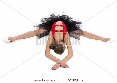 Photo of stretching girl with arms crossed