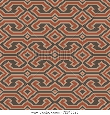 Seamless Vintage Toraja Color Pattern. Ethnic Vector Textured Background. Sulawesi, Indonesia.