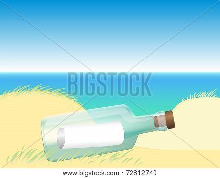Message in a bottle beach