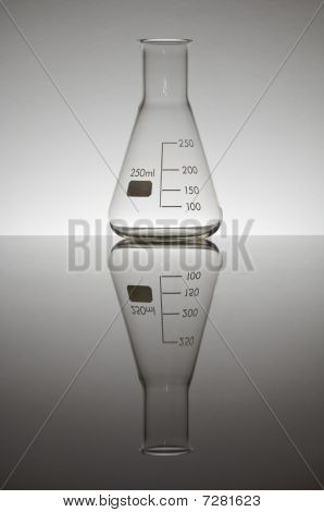 laboratory flask two hundred fifty milliliters on a white background gradient poster