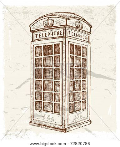 illustration of telephone cabin