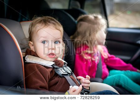 Small Children In The Car
