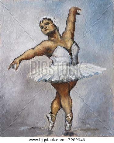Oilpainting - Fat Ballerina