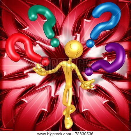Gold Guy With Questions