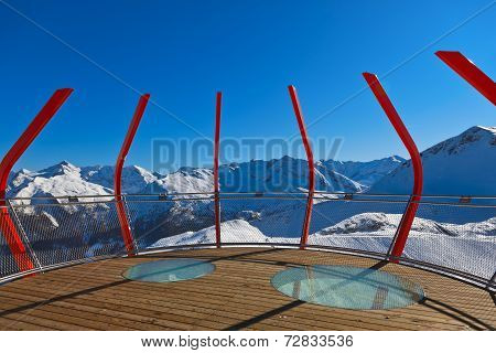 Viewpoint At Mountains Ski Resort Bad Gastein - Austria