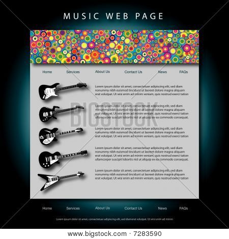 Vector music web site template