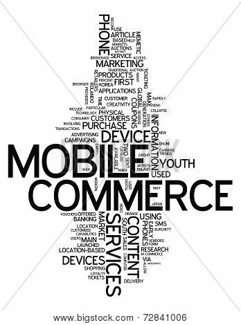 Word Cloud Mobile Commerce