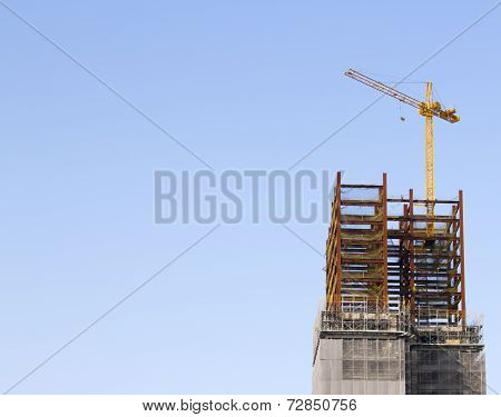 Construction Site With Tower Crane