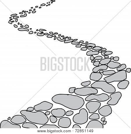 Isolated Stone Path