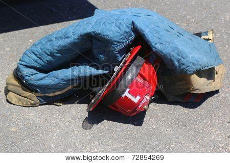 Fire fighter gear in Freeport