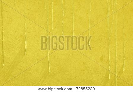 Yellow Paint Drip Wall Texture Background