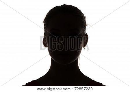Image of silhouette teenage girl