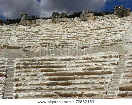Stone seats in the Odeon of Kibyra