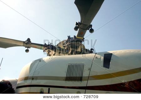 Rotor Of MedVac Helicopter