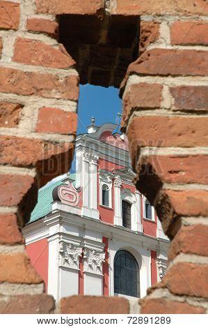 Part Of Fara Church In Poznan, Poland