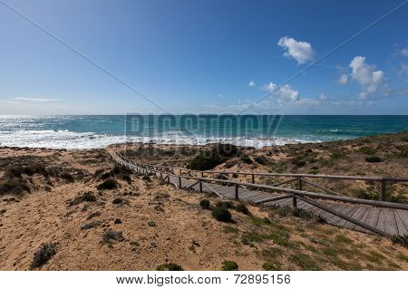 Beach At Lighthouse At Cape Trafalgar