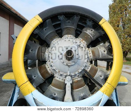 Old jet engine