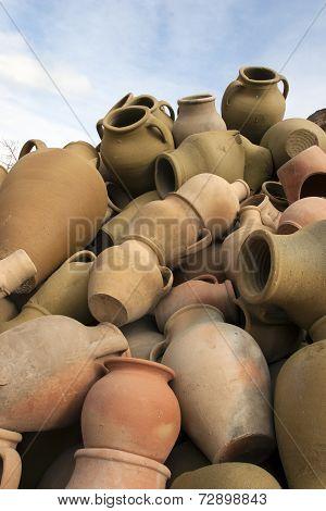 Turkish Pottery In Cappadocia