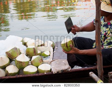 Fresh Coconut Is Handled