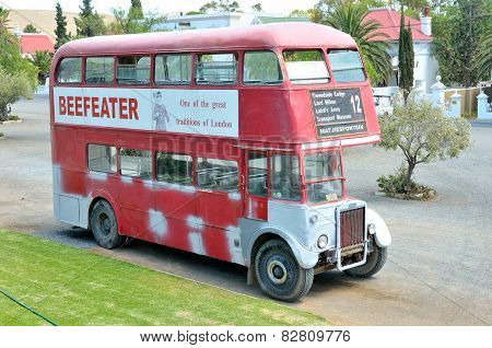 Historic Double-decker Bus At Matjiesfontein