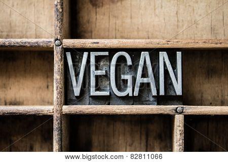 Vegan Letterpress Type In Drawer
