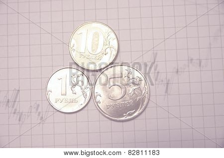 Russian rouble concept