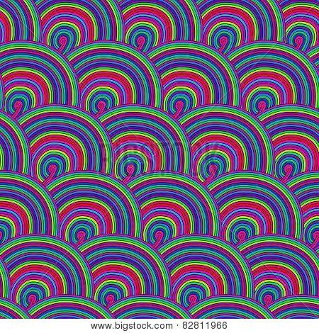 Seamless pattern with waves. Seamless wave hand-drawn patt