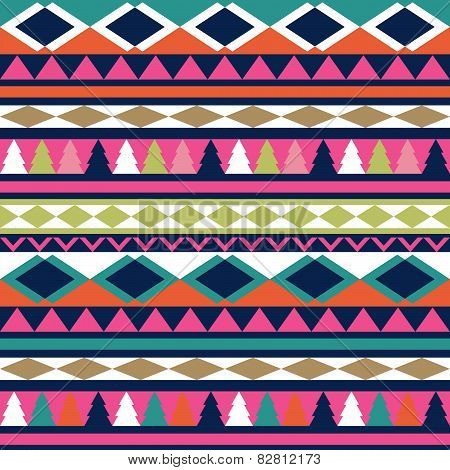 Seamless vector tribal texture. Tribal vector pattern. Colorful