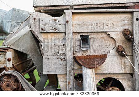 Old Wooden Farm Machine