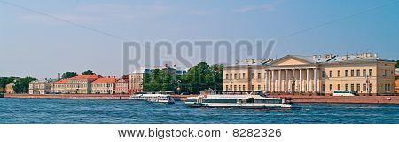 Walking Boats On The River Neva