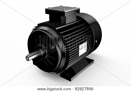 Industrial Black Electric Motor