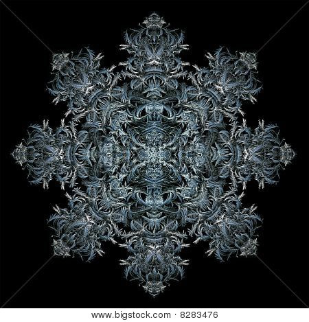 Octagonal Ice Crystal Design