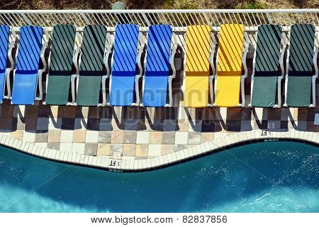 Pool Side Chairs in Living Color!