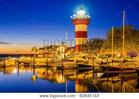 Hilton Head, South Carolina, USA lighthouse.