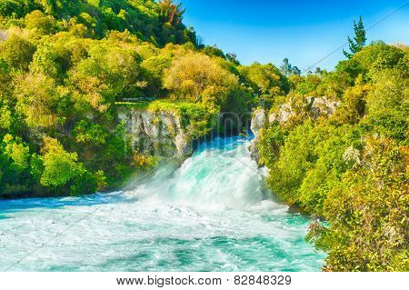 Huka Falls on Waikato River, New Zealand